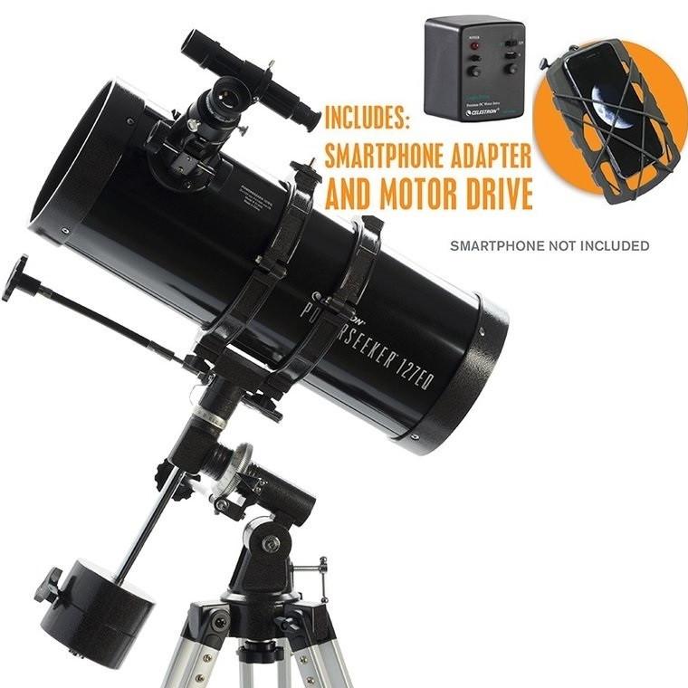 Celestron PowerSeeker 127EQ Telescope with Phone Adapter