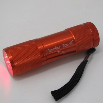 Feather Touch Red Led Astronomers Torch